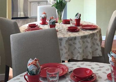 dining room and kitchen of greenwood memory care home